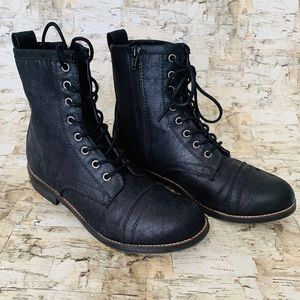Steve Madden Chandra Black Lace-up boots